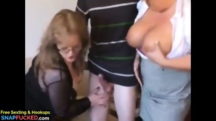 Skinny Nerd Can t Say No To Mature MILF and Busty BBW