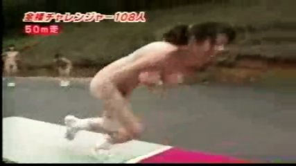Nudist Japanese running - scene 2