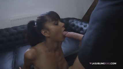 Ebony Girl Sucks Penis