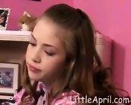 Sweet Teenage Girl masturbating - scene 1