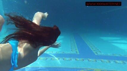 Hot Russian brunette Mia Ferrari in the pool