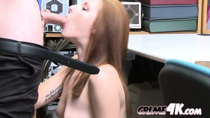 Jaycee Starr rides HORNY big-dicked guard on his desk