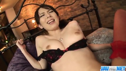 Yui Hatano fucked and creamed over her furry pussy - More at JavHD.net