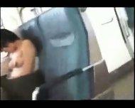 Asian Babe sleeping on Train - scene 11