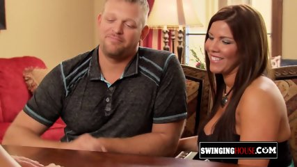New couples experiment something new sexually in an open Swing House