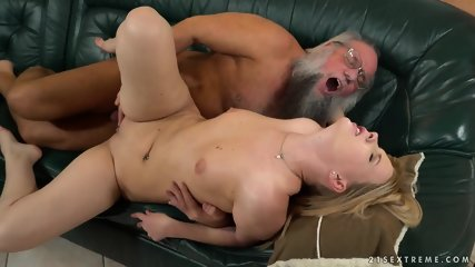 Grandpa Fucks Hot Blonde