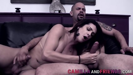 Sucked shemale rides black cock