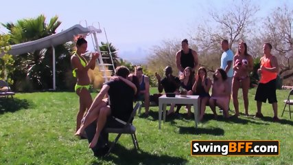 VOYEURISTIC couple go to have orgy at the SWINGER HOUSE