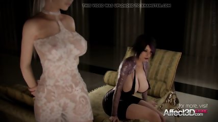 Sexual blonde and her significant boobs honey enjoying futa love-making