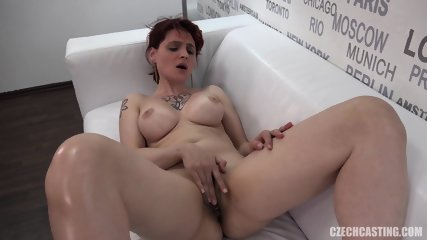 Busty Girl Takes Off Clothes At Casting