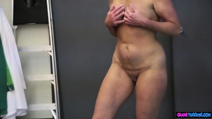 Spex mature beauty tugs and strokes cock