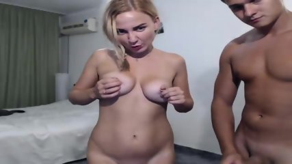 Busty Girl And Her Boy On Webcam Show