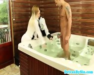 Femdom Glamour Babes Get Cock In Jacuzzi