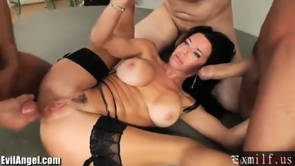 EvilAngel Veronica Avluv Double Anal Gangbang by XMILF.US