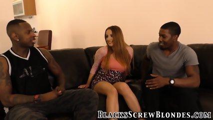 Babe gets black cocks dp