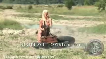 Actiongirls are so sexy as they gun you down - scene 6