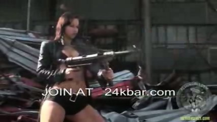 Actiongirls are so sexy as they gun you down - scene 7