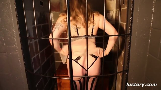Submissive Companion Caged and Pulled by her Grasp