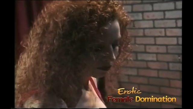 Crazy goddess helps make her mistress pleased inside love-making dungeon