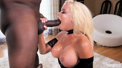 Big Cock In Busty Slut's Throat