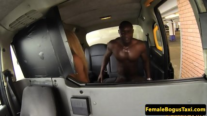 Busty english cabbie cockriding african american john thomas