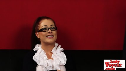 Sexy british spex slut watches wank sesh