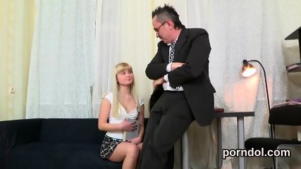Natural college girl gets seduced and pounded by older teacher