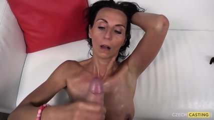 Mature Amateur Plays With Cock