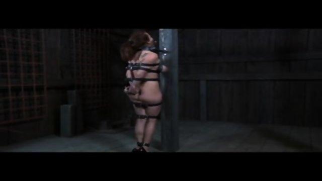 BDSM Server Ashley Graham Tied and Pulled by Sado Grasp