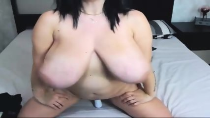 unattractive and fat cam-girl with monster knockers