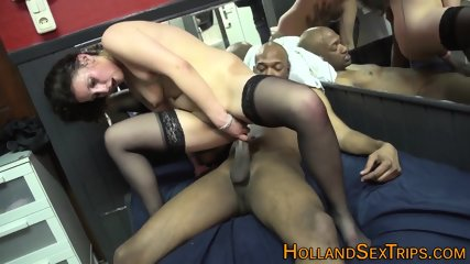 Whore rides and sucks black tourist