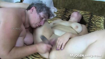 Teen beauty having sex with dirty grandma