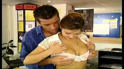 Guy showing Girl how to copy and more - scene 3