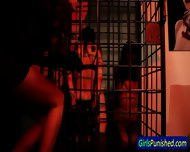 Hot Caged Slaves Spanked - scene 2