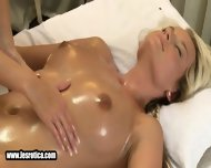 Sexy Blonde Lesbian Babe Gets Massaged And Fingered - scene 9