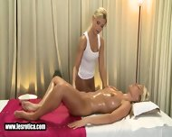 Sexy Blonde Lesbian Babe Gets Massaged And Fingered - scene 2