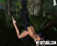 Sexy 3d Cartoon Elf Babe Getting Fucked In The Woods
