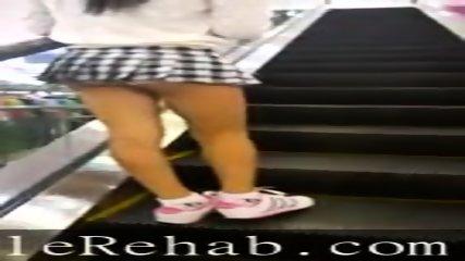 Sexy ladyboy in escalator. Nina Isabella