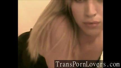 Blonde Tgirl on Cam