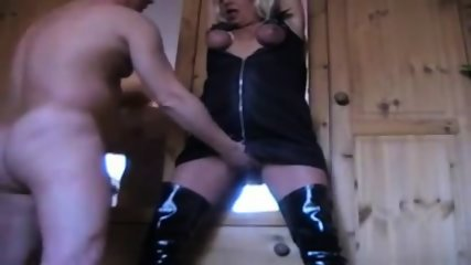 mature partner tortured and moistening