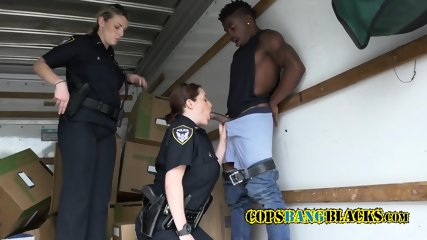 Rough white females reduce and FUCK black suspect