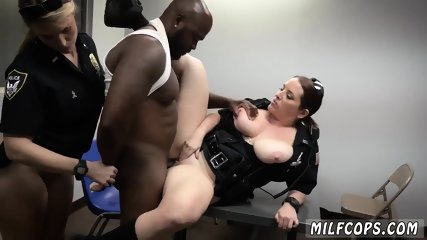 Hardcore ebony sex and white girl begging to stop Milf Cops
