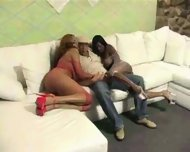 Two black Girls love Cock - scene 1