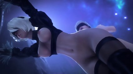 SUPER NIER AUTOMATA SEX 2B X 9S ROUGH FUCKING BIG DICK