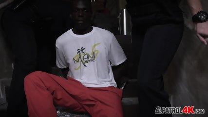 BIG DICKED ebony THUG pounding TWO white MILFS hardcore