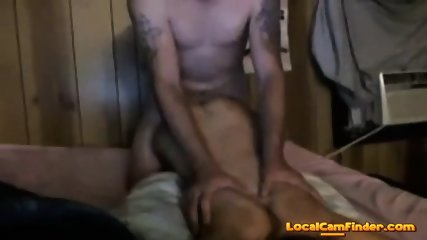 He fucks her hard then cums on her tits