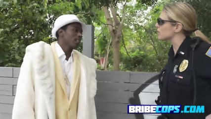 BLACK pimp caught and arrested by TWO horny WHITE MILFS