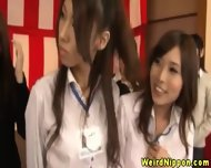 Japenese Office Cuties Requested To Strip