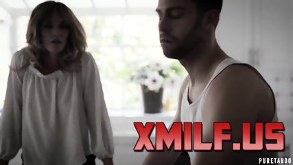 Horny MILF joins in a hot 3some with stepson and gf by XMILF.US