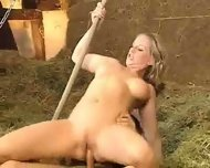 Germans fucking in Barn - scene 8